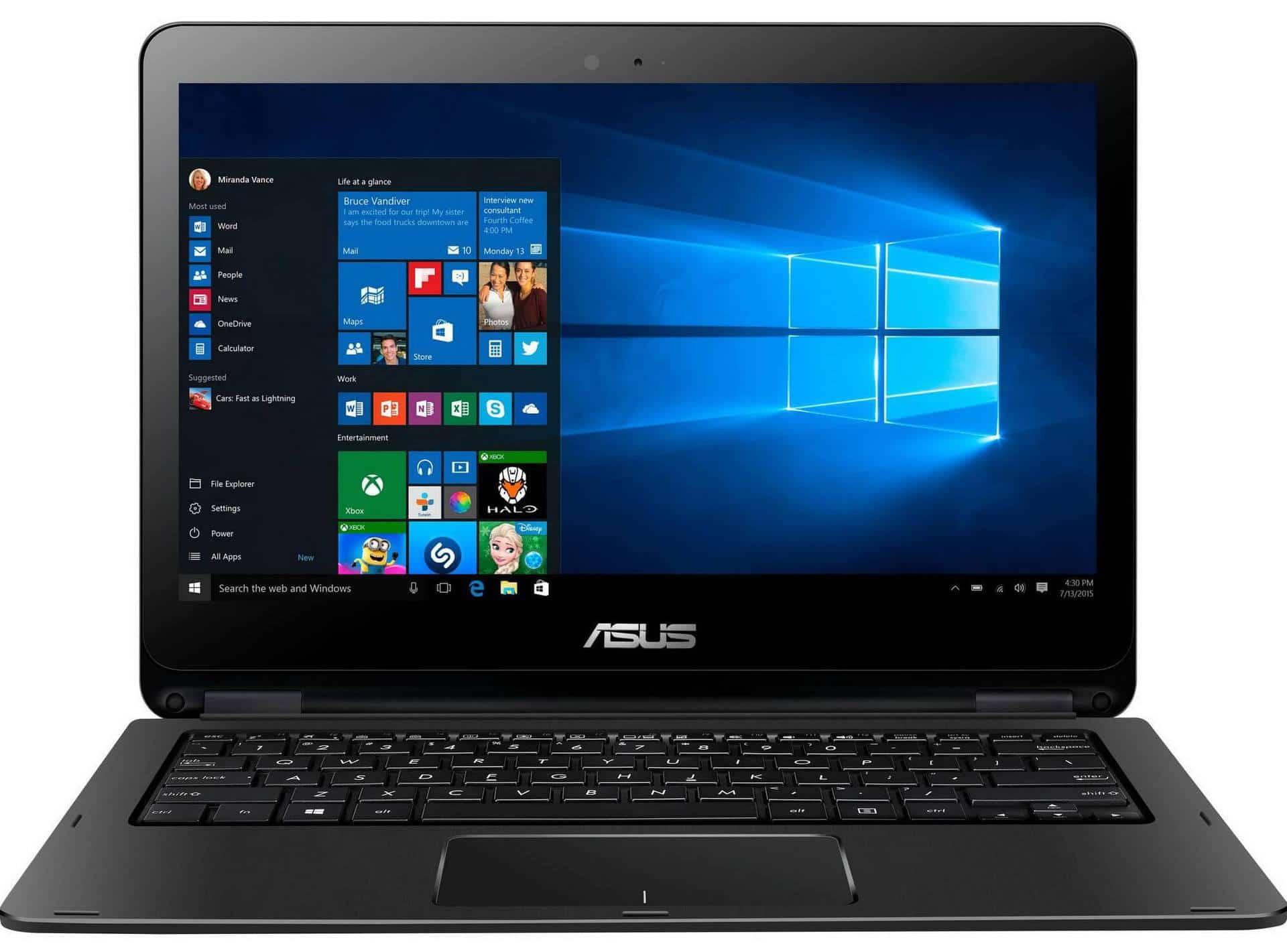 ASUS TP301UJ-C4017T - laptop de 13,3 inch cu design 2 in 1 si Windows 10!