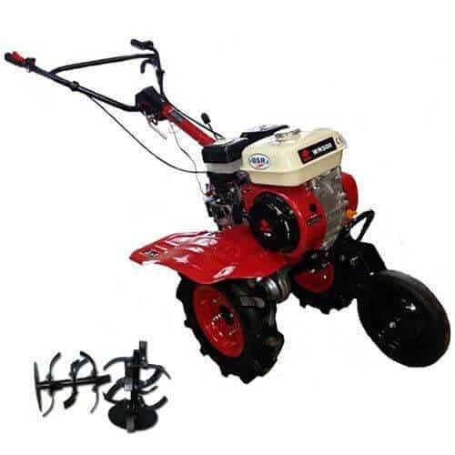 Motosapa BSR 500 pachet motocoasa - Ghidon reglabil orizontal -Freze cu discuri in capat 2+1 -Roata fata -Roti cauciuc