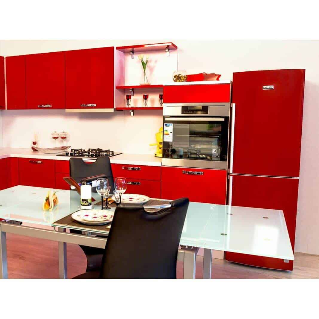 Oursson RF2405/RD - Combina frigorifica pentru o mobila rosie